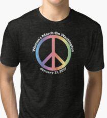 Women's March On Washington Peace Sign Tri-blend T-Shirt