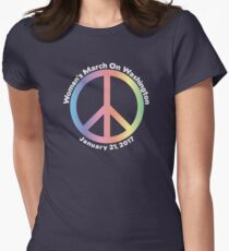 Women's March On Washington Peace Sign Women's Fitted T-Shirt