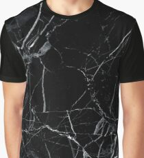 Marble black Graphic T-Shirt