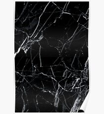 Marble black Poster