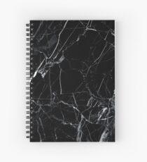 Marble black Spiral Notebook
