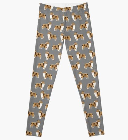 rough collie dog design dog pattern dog print rough collies gifts accessories Leggings