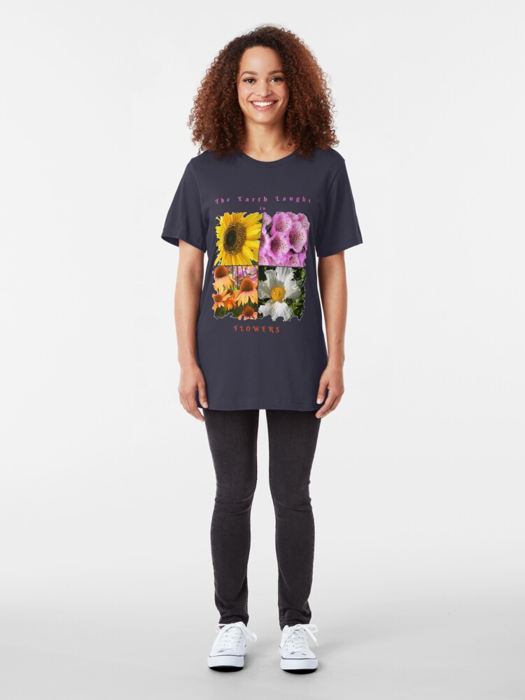 Alternate view of EARTH LAUGHS IN FLOWERS Slim Fit T-Shirt