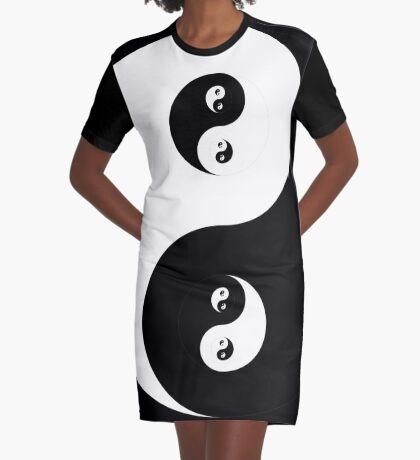 Ying Yang Graphic T-Shirt Dress