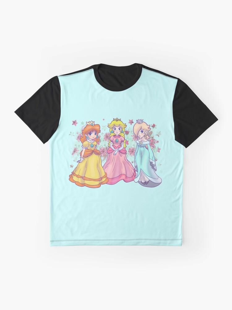 Alternative Ansicht von Prinzessin Peach, Daisy und Rosalina Grafik T-Shirt