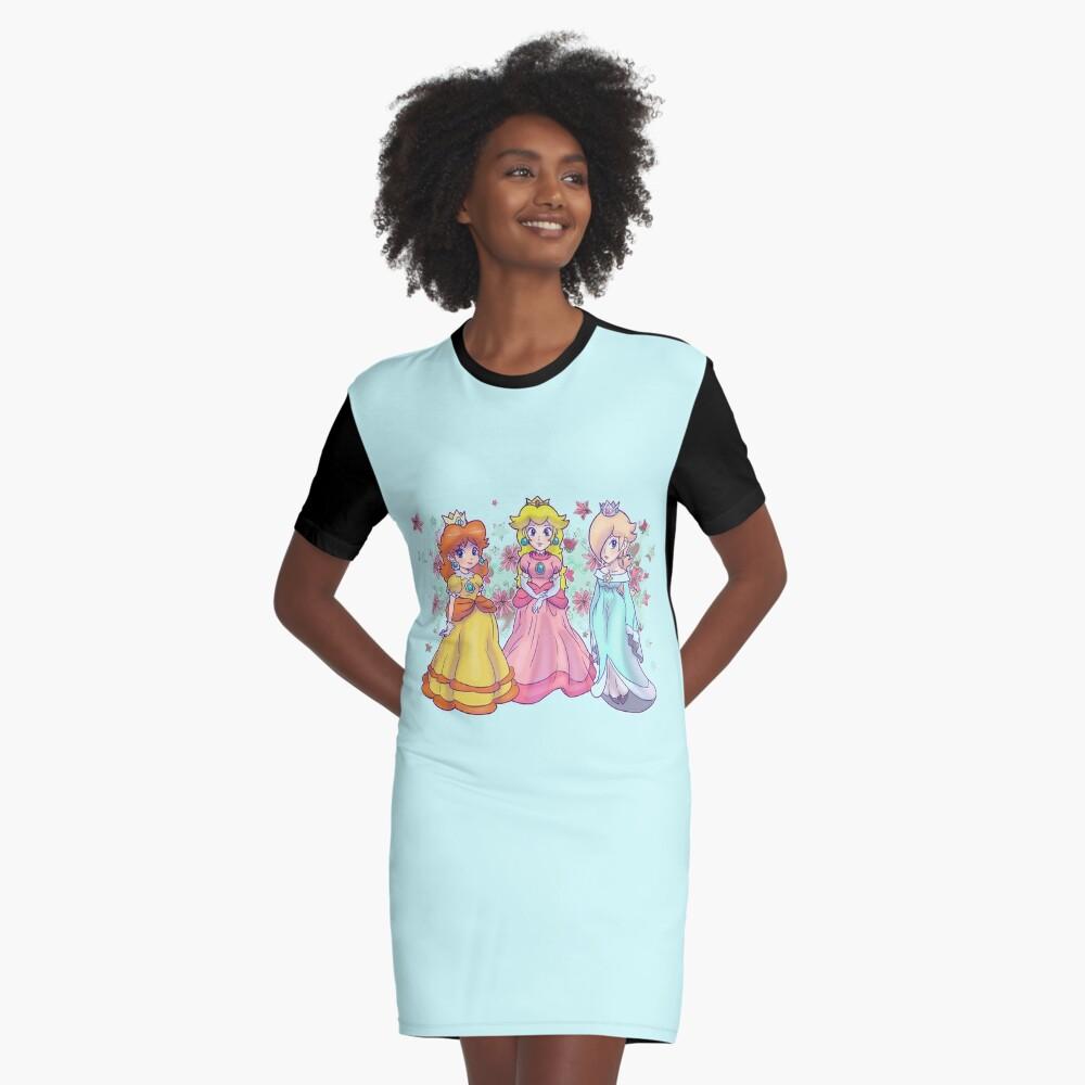 Prinzessin Peach, Daisy und Rosalina T-Shirt Kleid