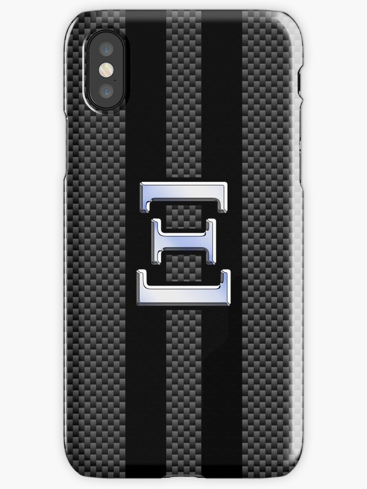 ksi greek letter symbol chrome carbon style iphone cases covers