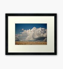 Clouds Touching Earth Framed Print