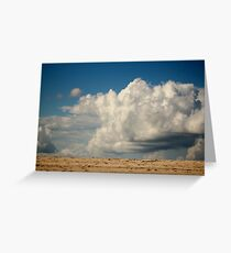 Clouds Touching Earth Greeting Card