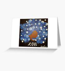 Zeta Phi Beta Diva Greeting Card