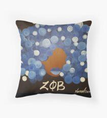 Zeta Phi Beta Diva Throw Pillow
