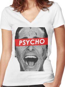 American Psycho - Patrick Bateman  Women's Fitted V-Neck T-Shirt