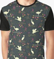 Dancing Cranes Graphic T-Shirt