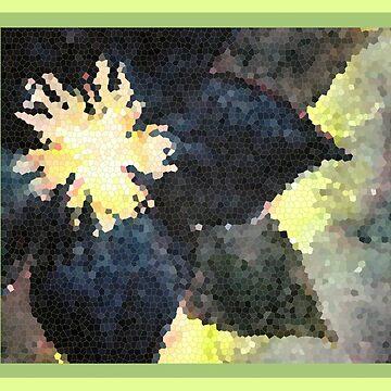 Black Flower Mosaic by abigailryder