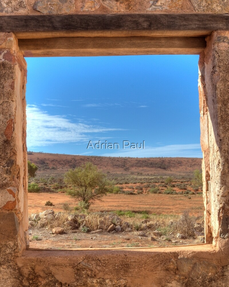 View Through an Outback Australian Window by Adrian Paul