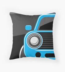 Classic car blue color Throw Pillow