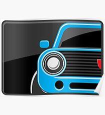 Classic car blue color Poster