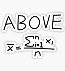 Above Average Sticker