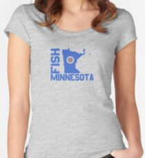 Fish Minnesota Women's Fitted Scoop T-Shirt