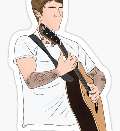 Justin Bieber performing Sticker