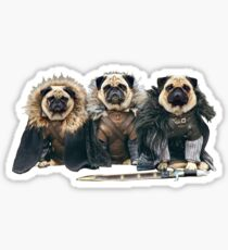Game Of Thrones Pugs Sticker
