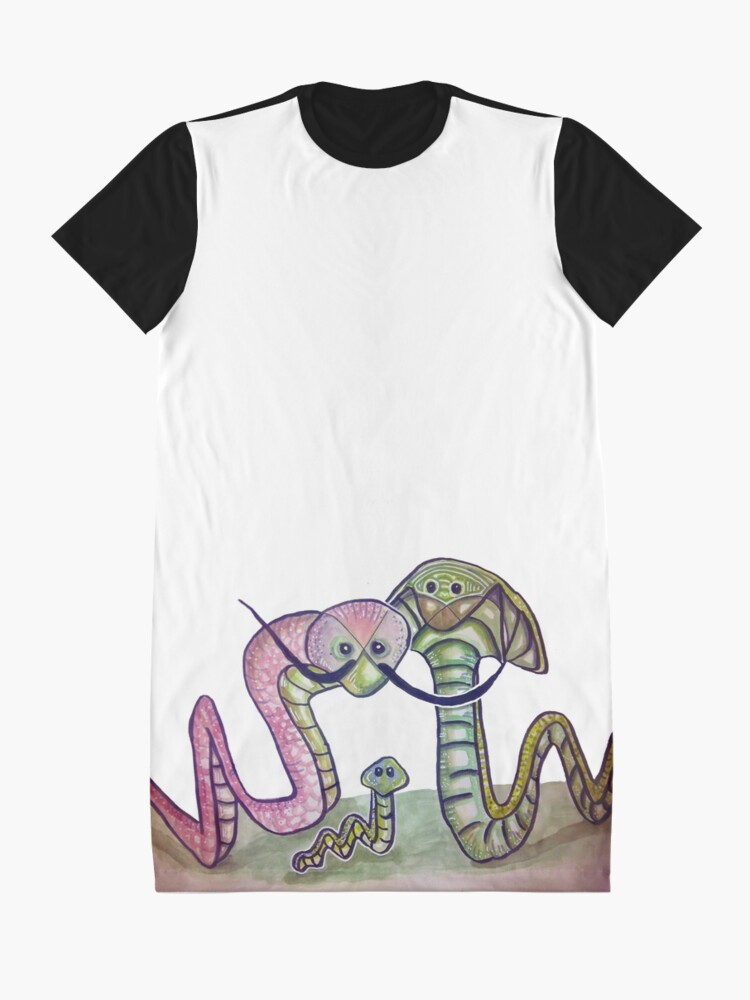Vista alternativa de Vestido camiseta Mind Worms