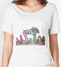 Mind Worms Camiseta ancha para mujer