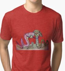 Mind Worms Camiseta de tejido mixto