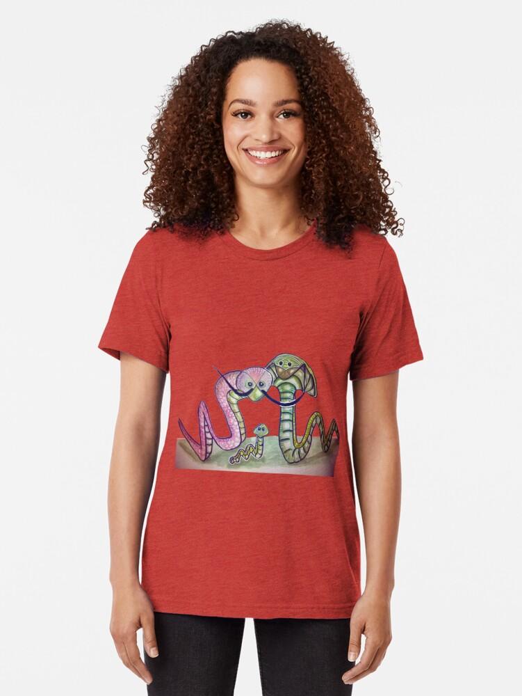 Vista alternativa de Camiseta de tejido mixto Mind Worms