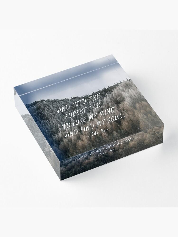 Alternative Ansicht von In den Wald Acrylblock