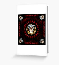 WHITESNAKE RED TELUR Greeting Card
