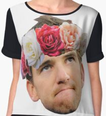 Flower Crown Eli Manning Women's Chiffon Top