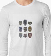 Skyrim Hold Logos Long Sleeve T-Shirt