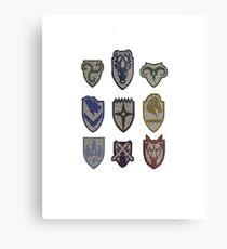 Skyrim Hold Logos Metal Print
