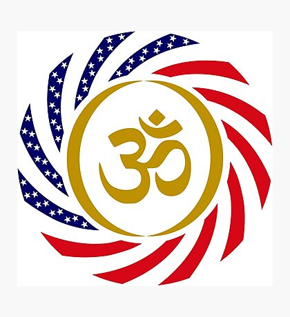 Hindu American Multinational Patriot Flag Series 1.0 Photographic Print