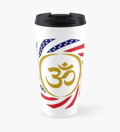 Hindu American Multinational Patriot Flag Series 1.0 Travel Mug