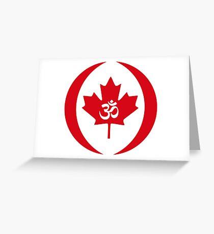 Hindu Canadian Multinational Patriot Flag Series Greeting Card