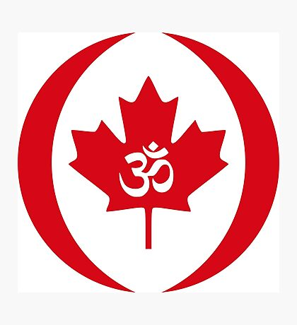Hindu Canadian Multinational Patriot Flag Series Photographic Print