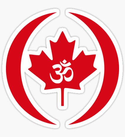 Hindu Canadian Multinational Patriot Flag Series Sticker