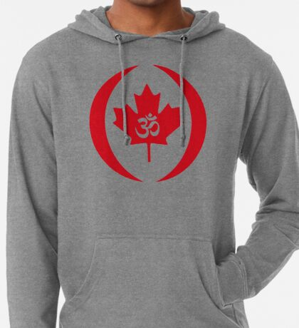 Hindu Canadian Multinational Patriot Flag Series Lightweight Hoodie
