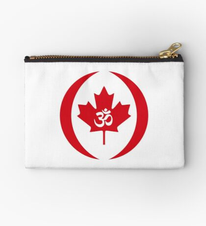 Hindu Canadian Multinational Patriot Flag Series Zipper Pouch