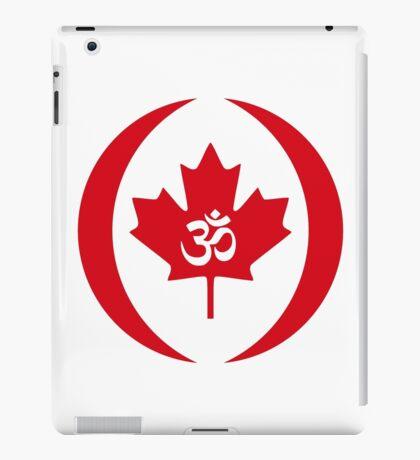 Hindu Canadian Multinational Patriot Flag Series iPad Case/Skin