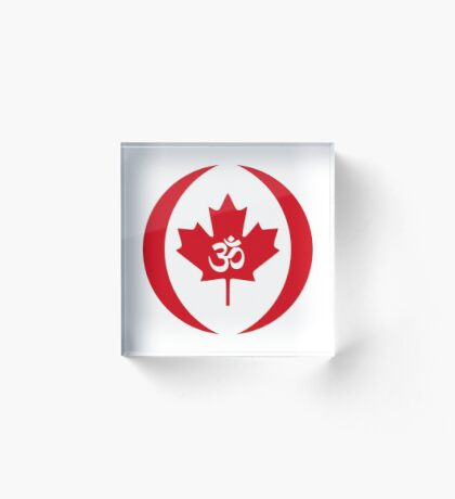 Hindu Canadian Multinational Patriot Flag Series Acrylic Block