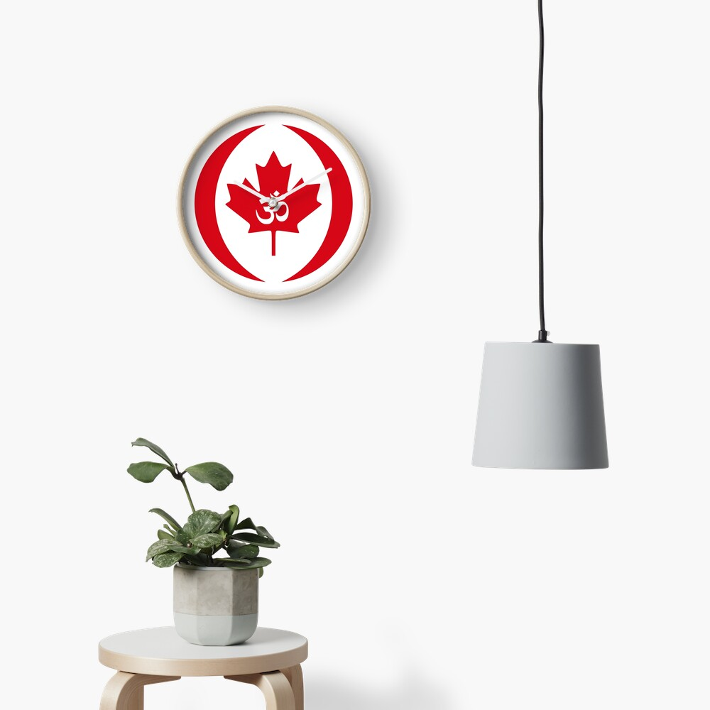Hindu Canadian Multinational Patriot Flag Series Clock