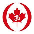 Hindu Canadian Multinational Patriot Flag Series by Carbon-Fibre Media