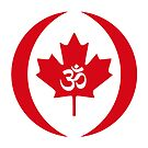 Hindu Canadian Multinational Patriot Flag Series by Carbon-Fibre Media