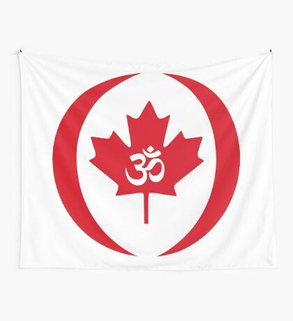 Hindu Canadian Multinational Patriot Flag Series Wall Tapestry