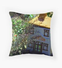 Cookie Jar in Garden Throw Pillow