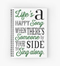 Life's a Happy Song Spiral Notebook