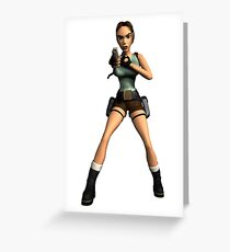 LARA CROFT Greeting Card